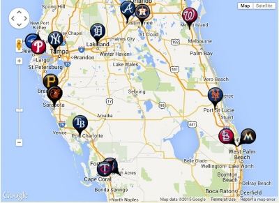 spring training map florida Florida Spring Training Map 2015 Florida Map 2018