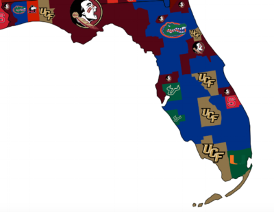 Florida Colleges Map Florida College Football Preview — The Villages of Citrus Hills Florida Colleges Map