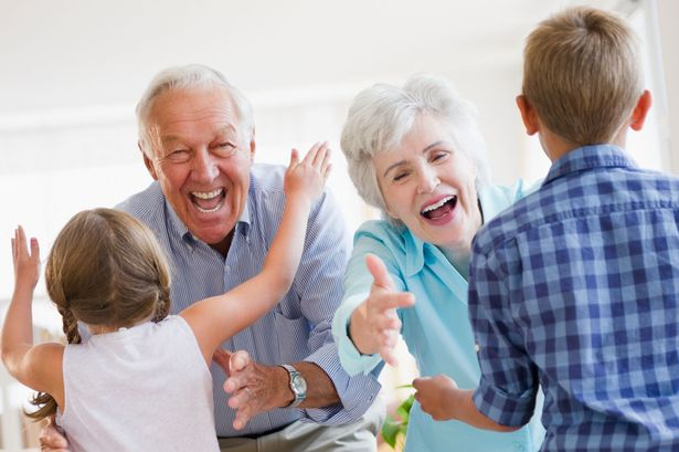 Grandchildren running to greet grandparents.jpg
