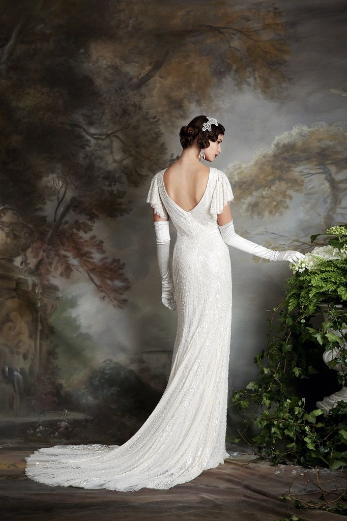 Eliza Jane Howell Wedding Dress Sibella back