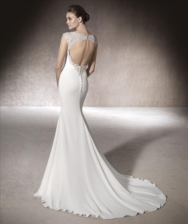 St Patrick Wedding Dress Milan back