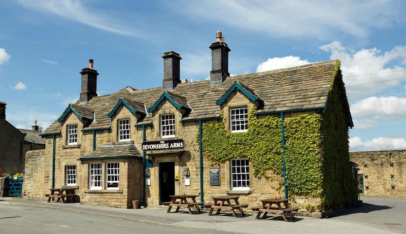The Devonshire Arms, Pilsley – Head through that little stone arch on the right and you'll reach Alexandra Anne Bridal Boutique!