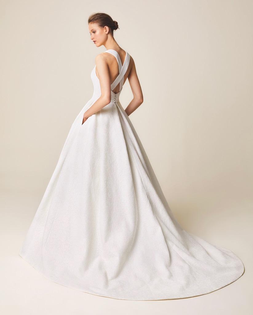 Jesus Peiro Wedding Dress 966 back