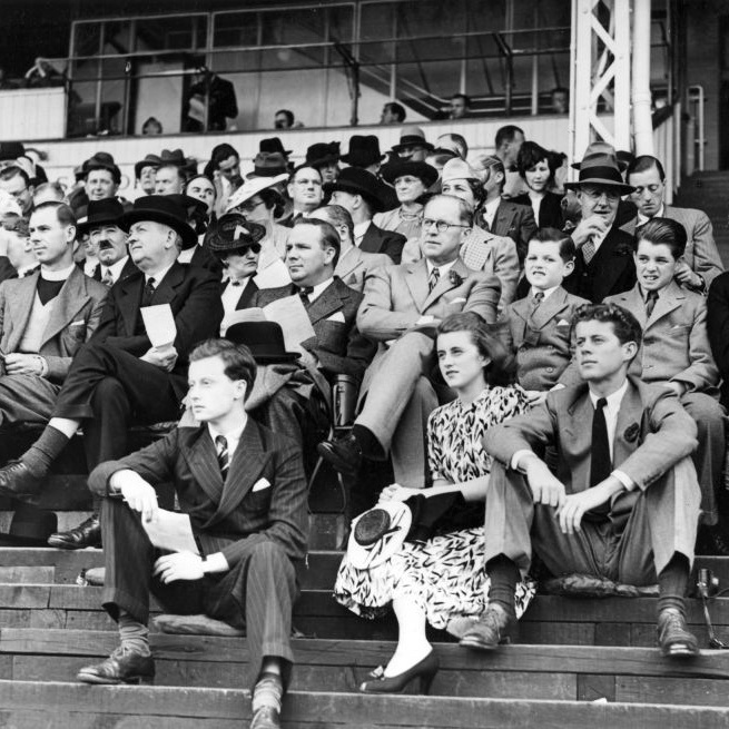 That's Kick Kennedy in the front row, right next to her brother, the future JFK.