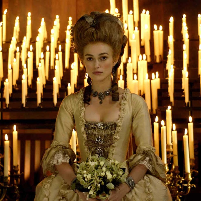 Keira Knightley played Georgiana in The Duchess, released in 2008 and filmed at Chatsworth.