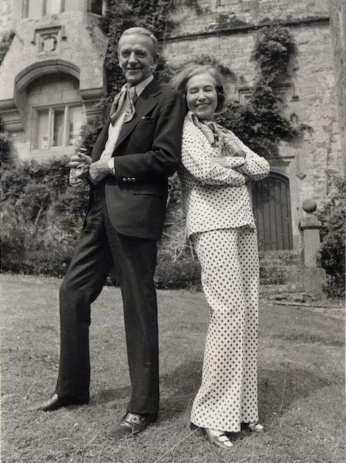 Adele (in her trademark polka dots) with Fred at Lismore Castle. Credit: Devonshire Collection, Chatsworth.