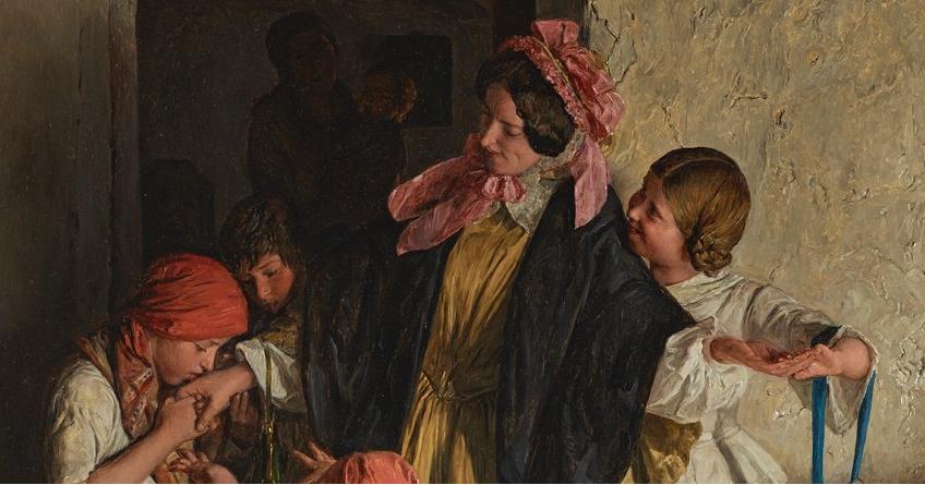 Ferdinand Georg Waldmüller, Der Abschied der Patin (Nach der Firmung), 1859 © Belvedere, Wien