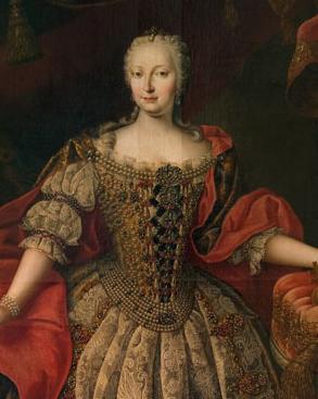 """""""Barocker Glanz"""" – Daniel Schmidely, Maria Theresia, 1742 (Ausschnitt) © Galéria mesta Bratislavy"""