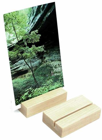 Wood Block Photo Holder by HappyBungalow shop