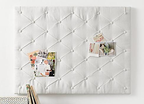 Tufted linen memory board by RHTEEN