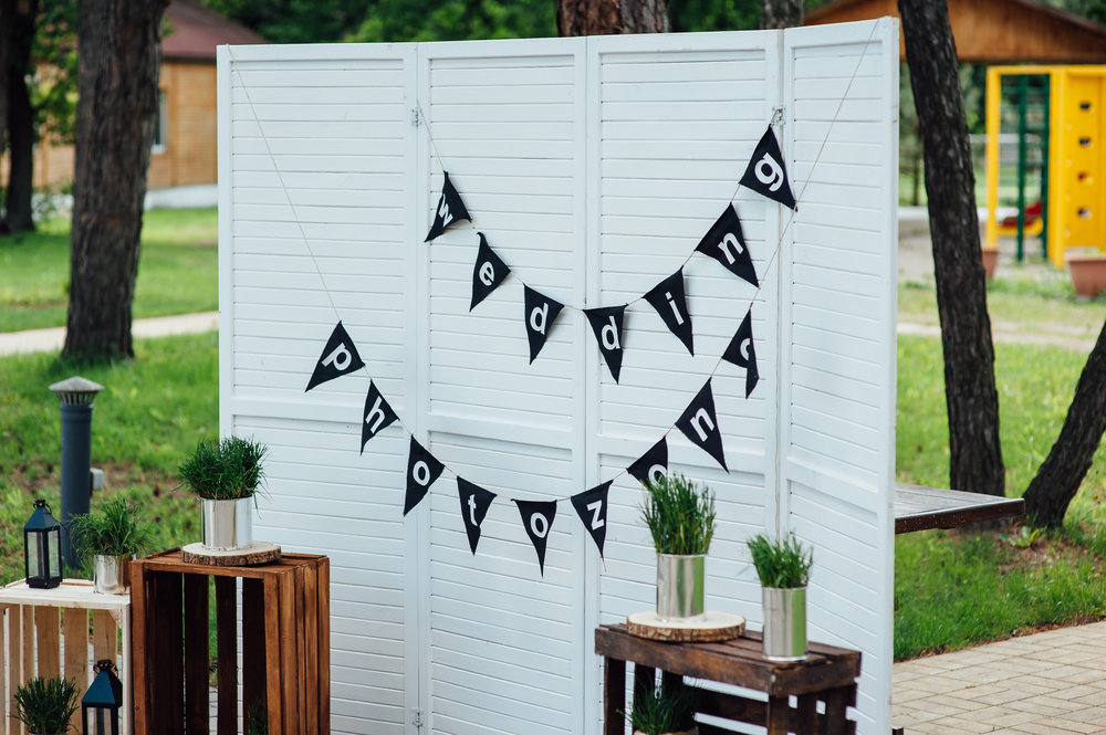 Festival wedding photo booth