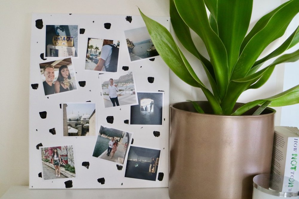 Wall decor ideas using photo prints