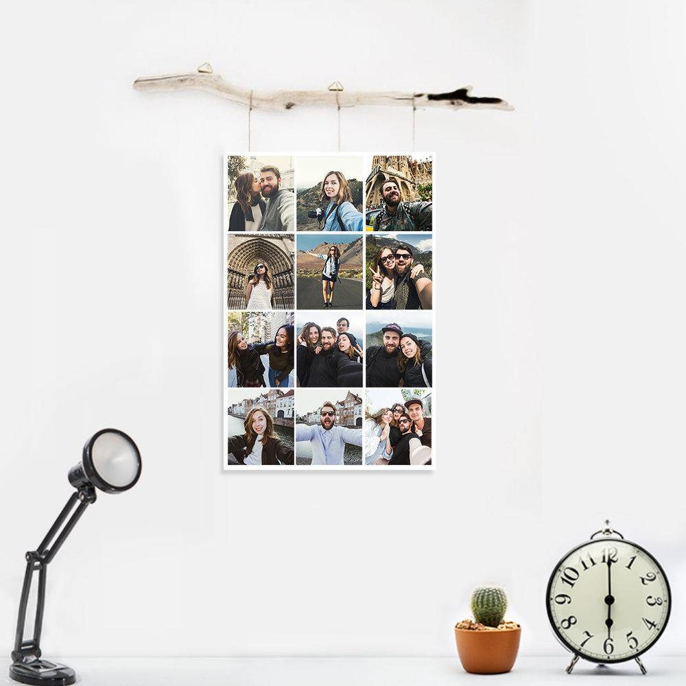 Wall decor ideas using photo prints