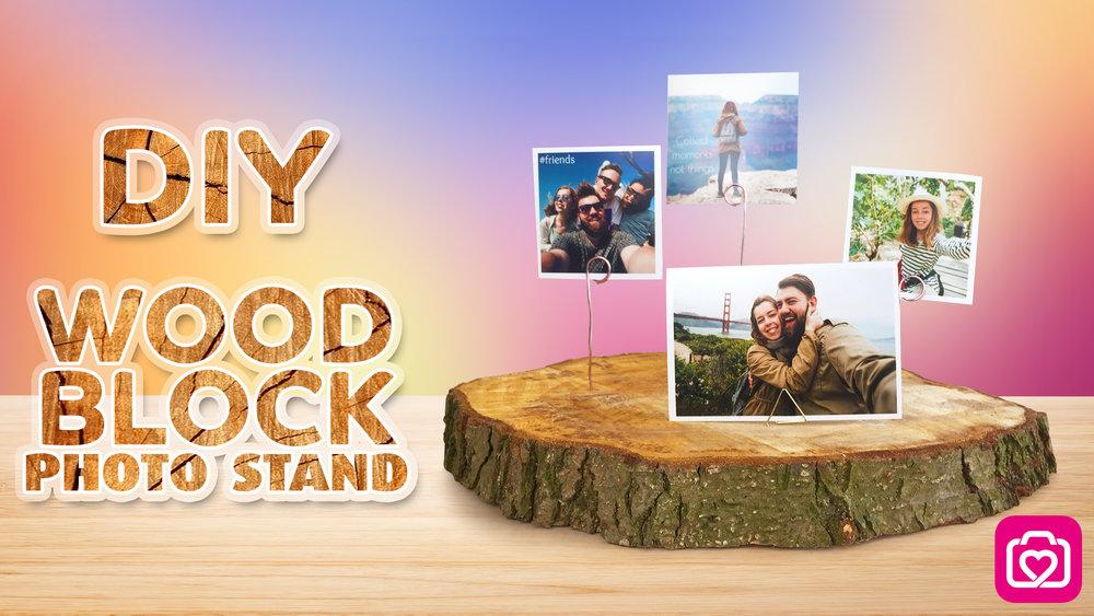 DIY Wood Block Photo Stand
