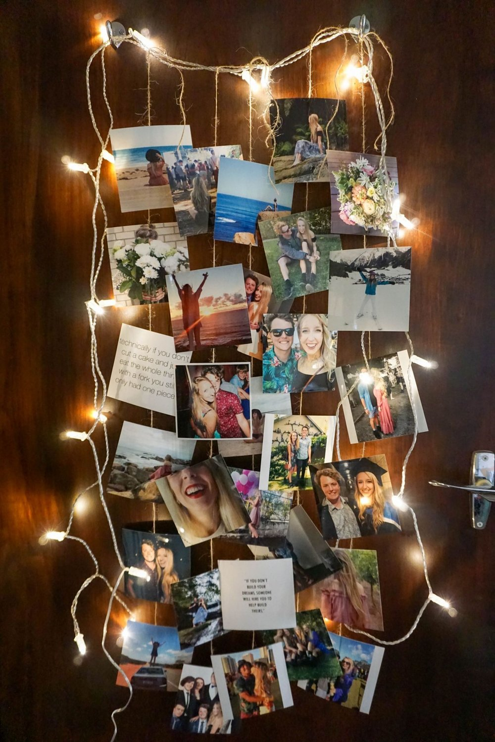 DIY Fairy Lights Photo Strip Display