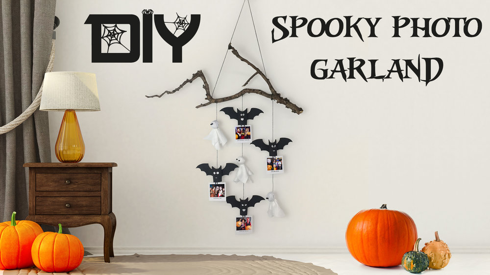 DIY Halloween Decoration Spooky Photo Garland