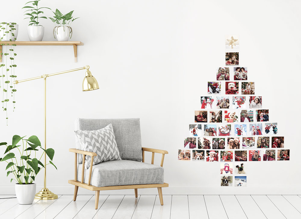 Christmas Tree Photo Wall Collage