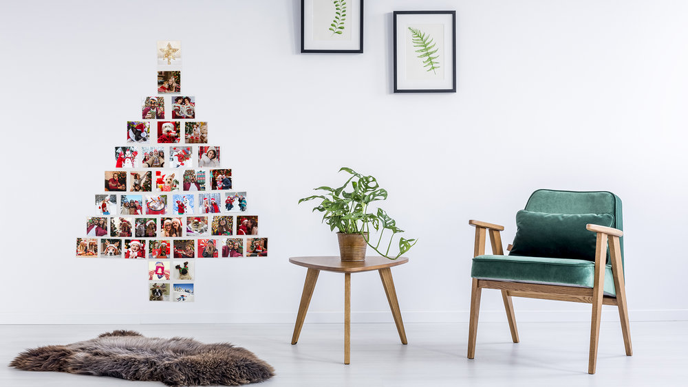 Christmas Tree Photo Wall