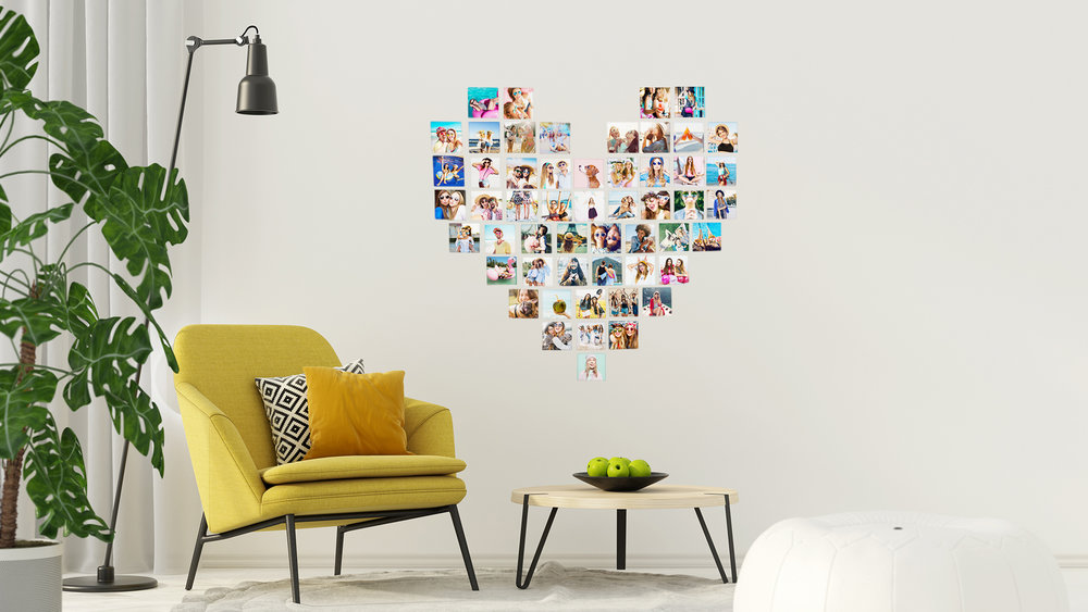 Heart Photo Wall Collage