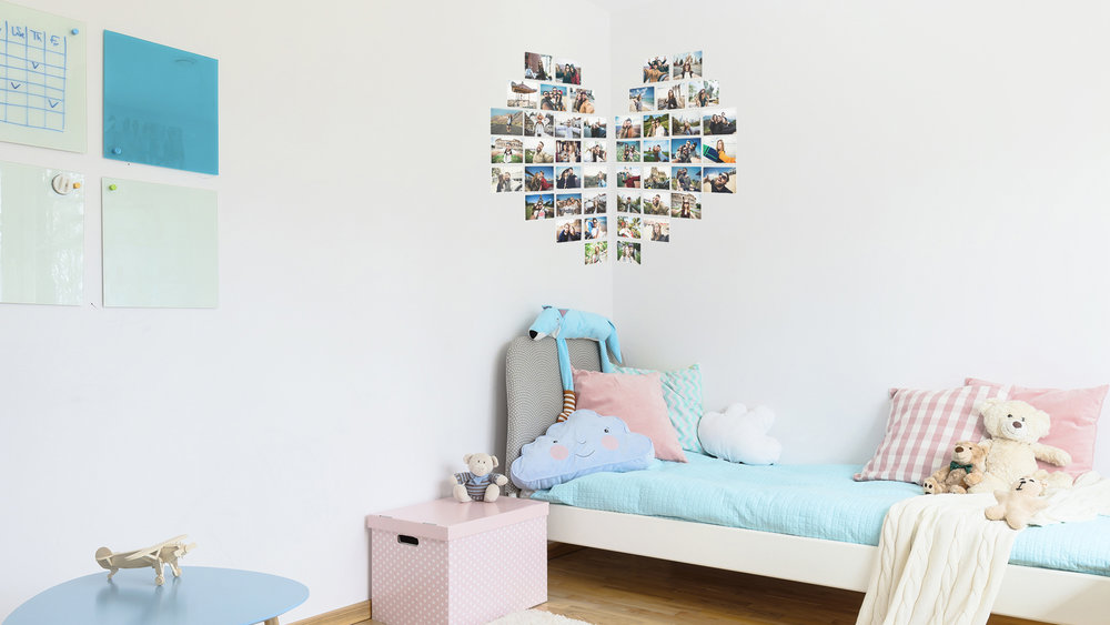 Corner Heart Photo Wall