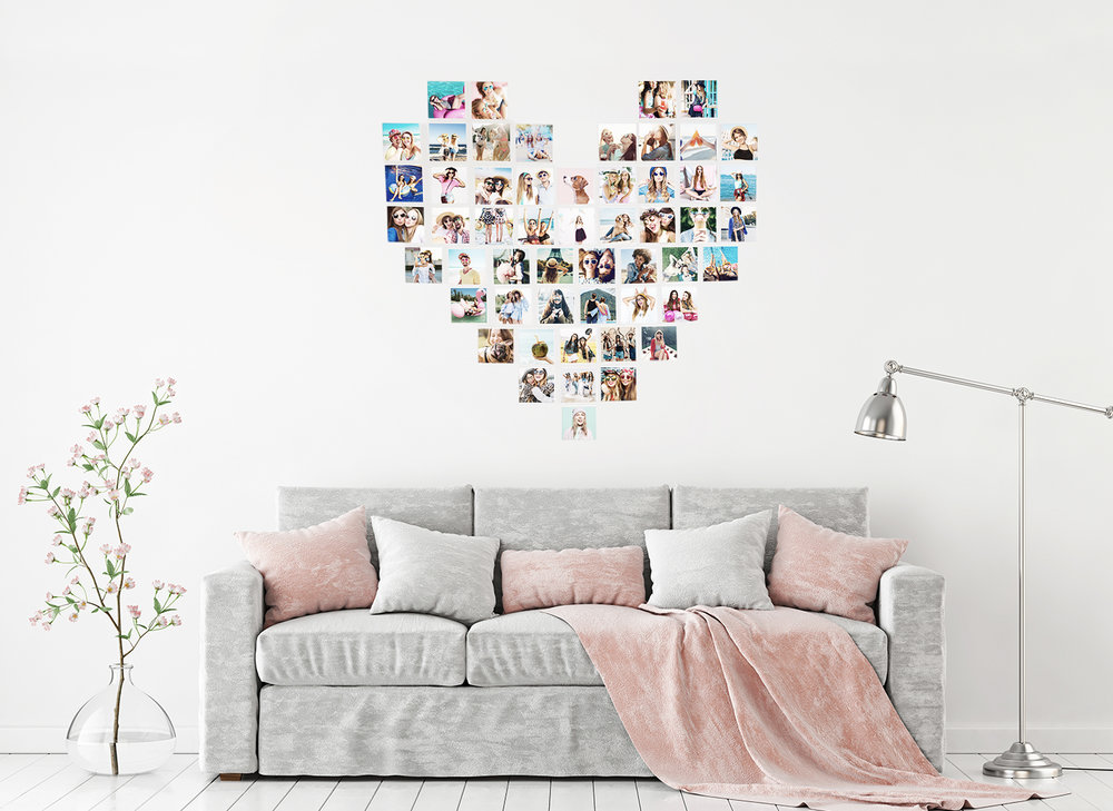 Heart Photo Wall -