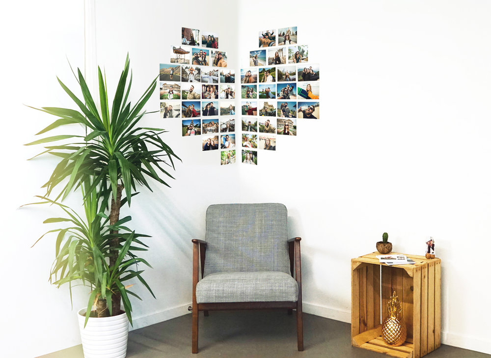 Corner Heart Photo Wall -