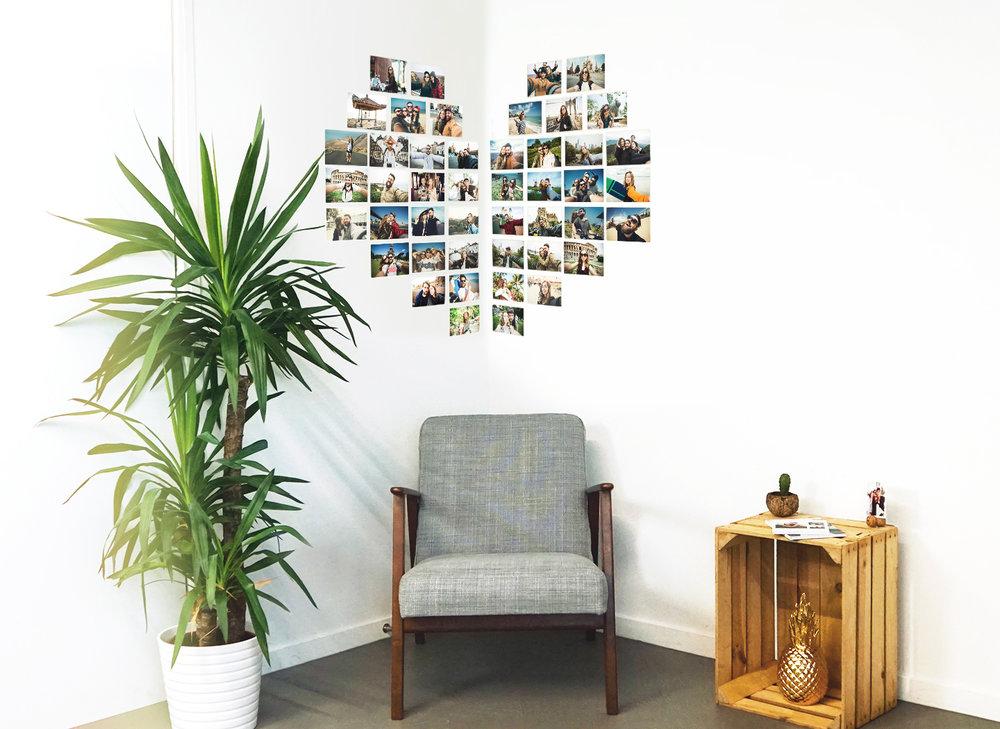 Corner Heart Photo Wall -