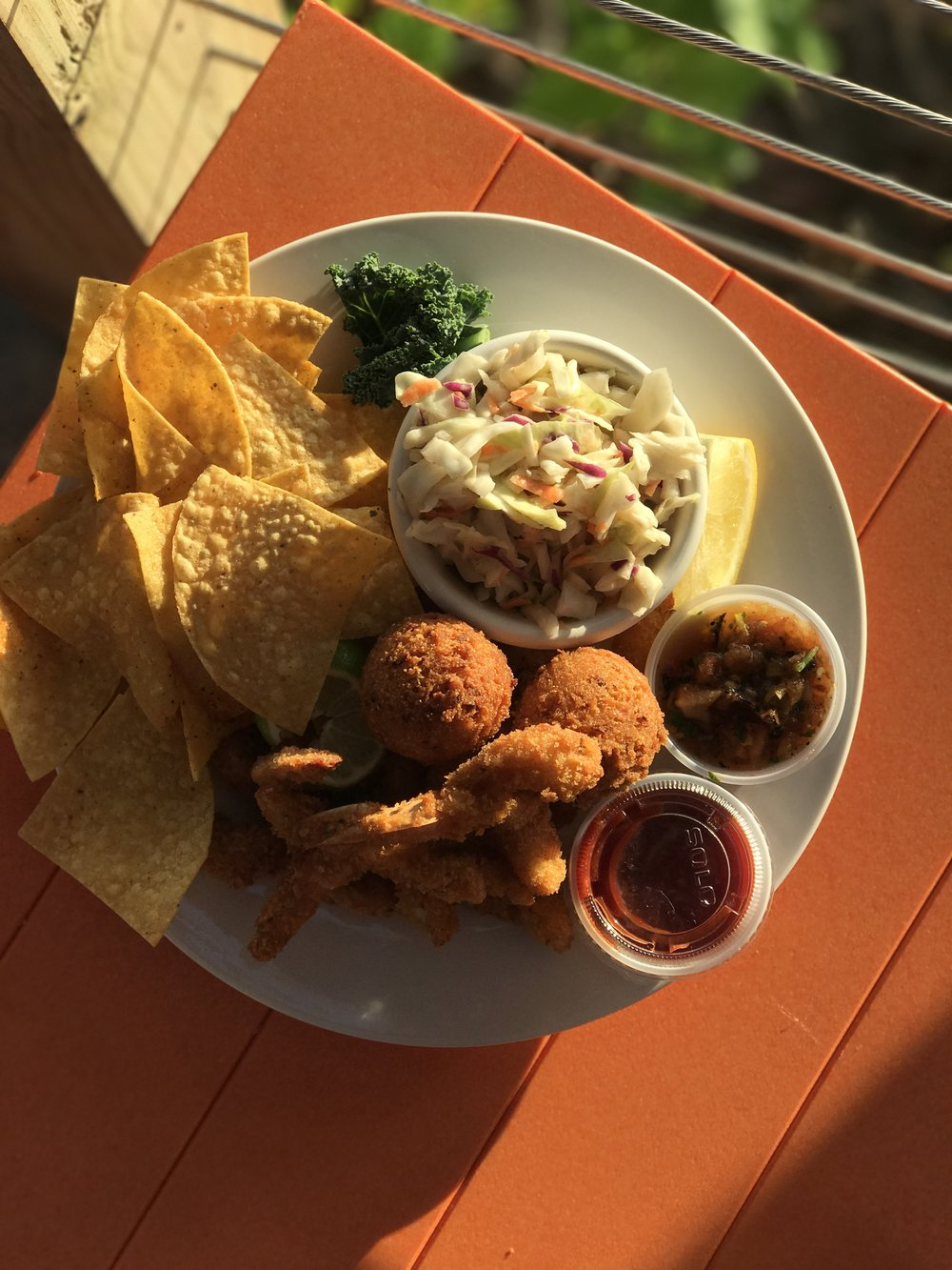 Fried shrimp basket at Painted Marlin Grille.
