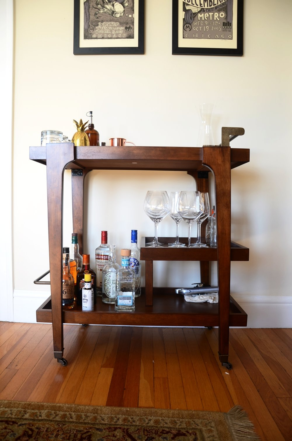 Zhori Bar Cart from  Wayfair