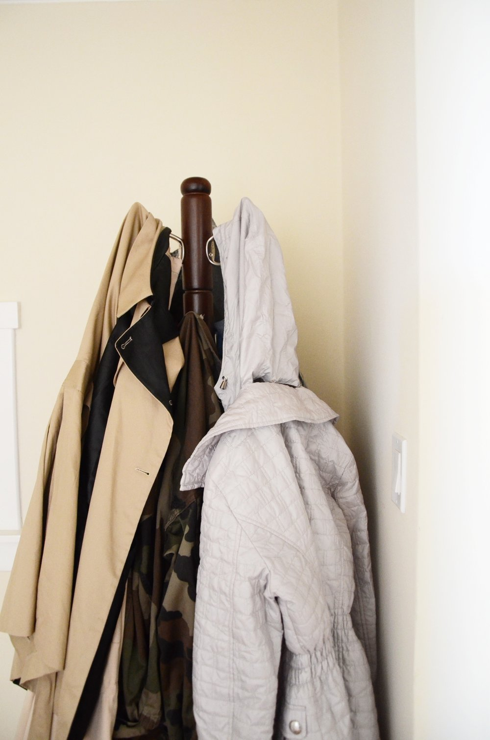 Freestanding Wood Coat Stand from  Wayfair