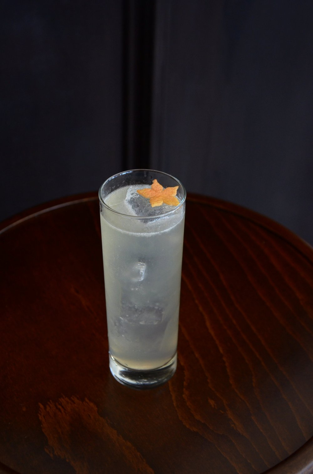 Coastal Scrub - gin, dolin dry, pamplemousse, citrus, honey and garbage tincture.