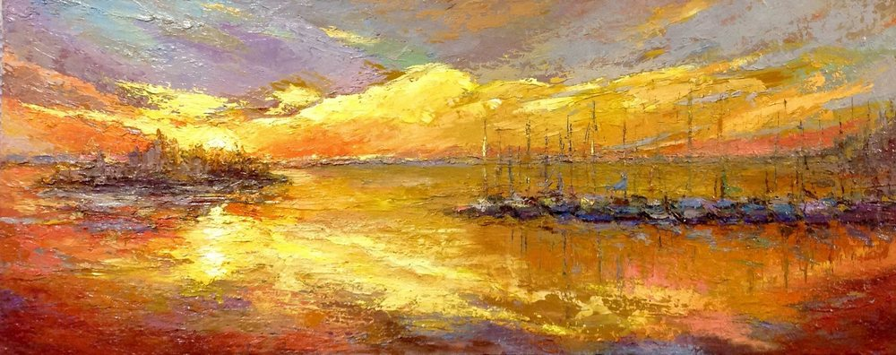 """ A Perfect Day""- Dawn Kinney Martin - 24 x 60 original oil on canvas"
