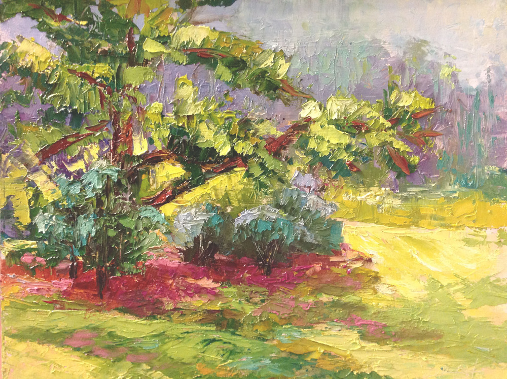 A Day in Dellwood Park 11 x 14 oil on panel - plein air