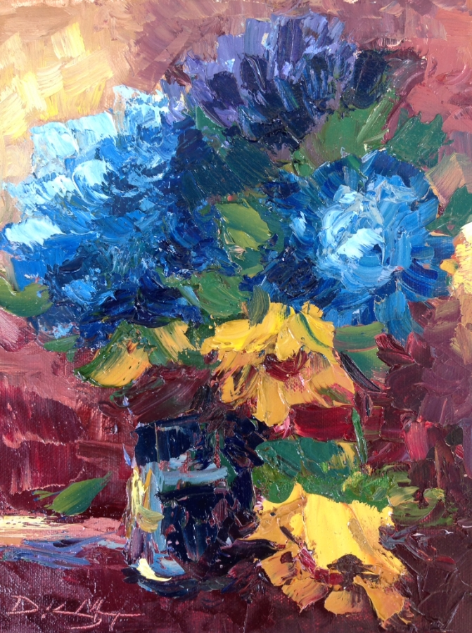 """Susan's Bouquet"" 9x12 oil on panel SOLD"