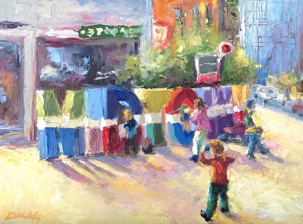 """Welcome to Midtown"" 9 x12 oil on panel. Click  here  to go to my online store"