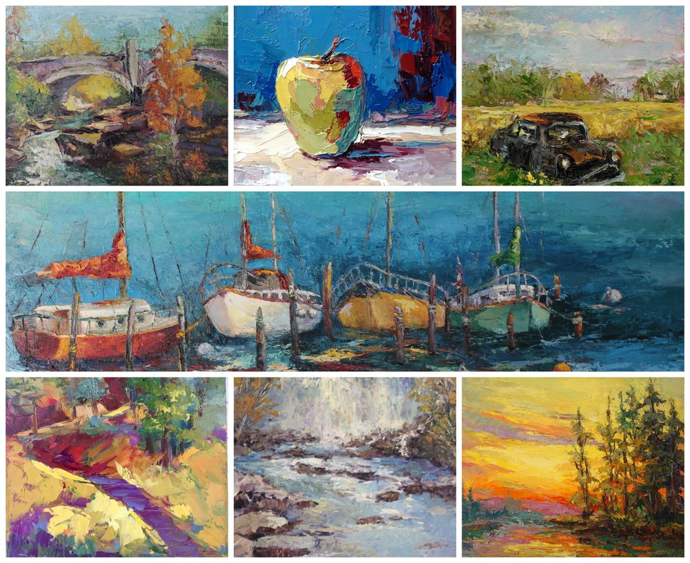 Alexandria was a fantastic show, but it's nice to be home. A great way to wrap up the eastern art tour. These are a few paintings that found new homes. A big thank you to my new art collectors!!