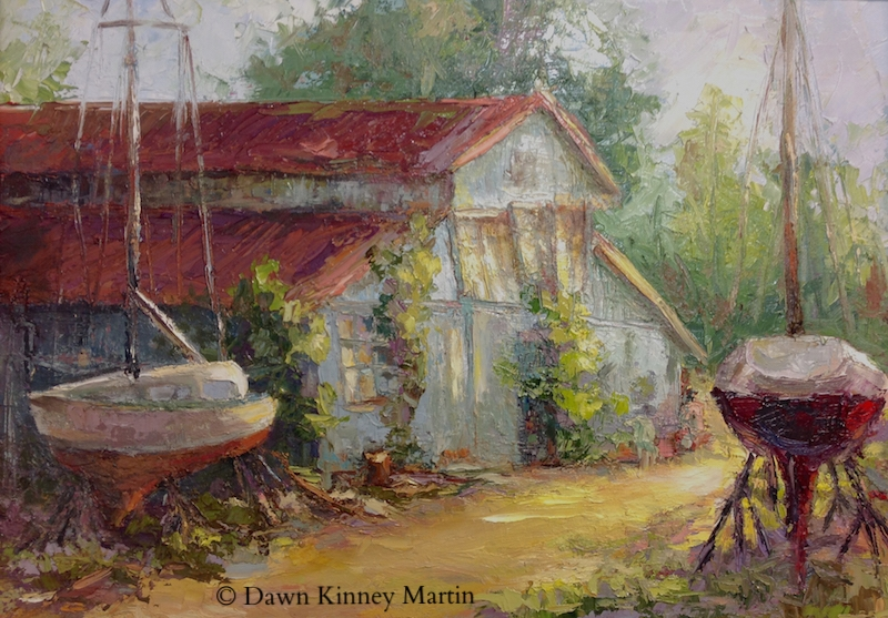 """I'm Still Standing!"" 18 x 24 oil on panel - Dawn Kinney Martin   SOLD"