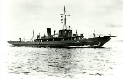 The USS Sachem (SP-192), as a subchaser, patrol craft and laboratory, seen during World War I