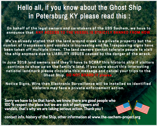 ghost ship owner visit legal notice