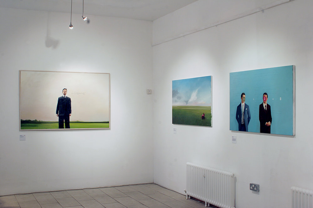Installation view of  Additional Information,  52 Hill Street, Belfast, Ireland, 2006