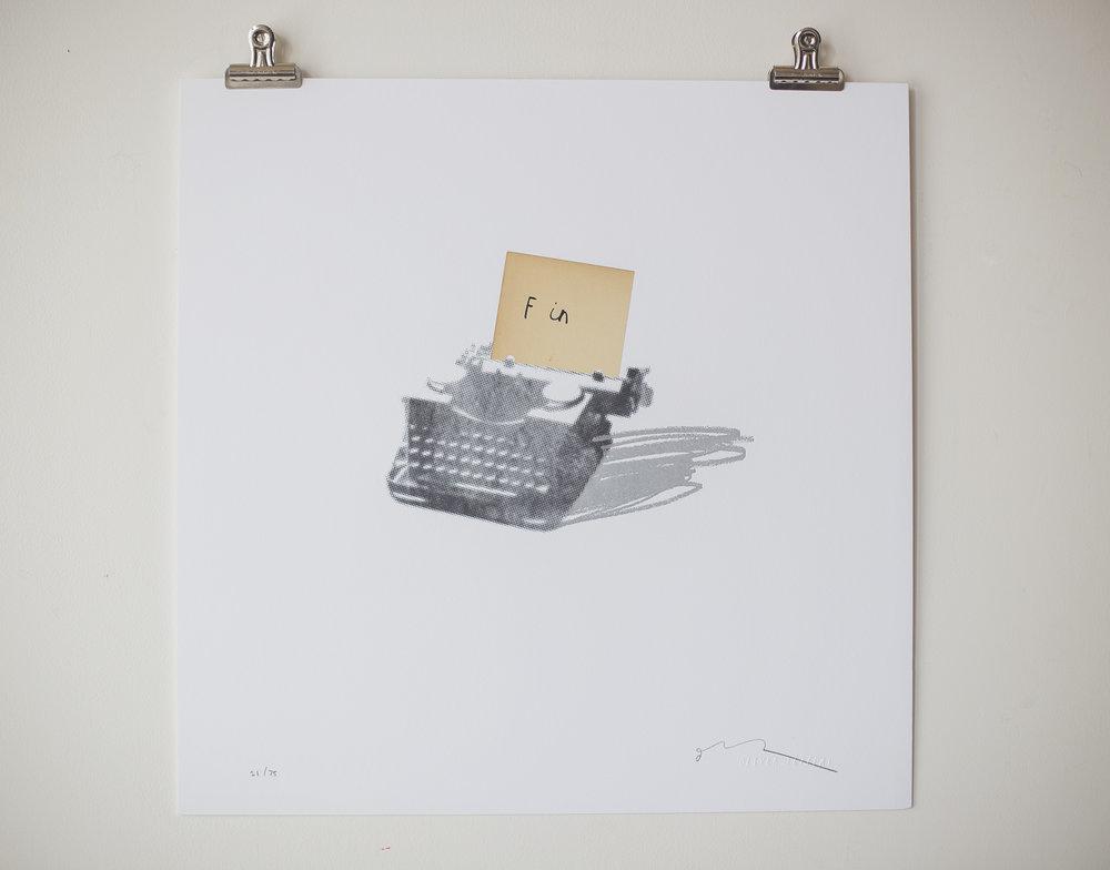 'Fin' letter press print, 2015