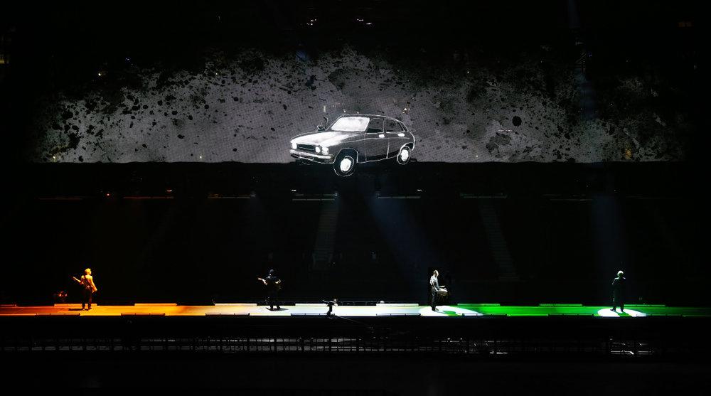 Visuals for U2's Ordinary Love tour