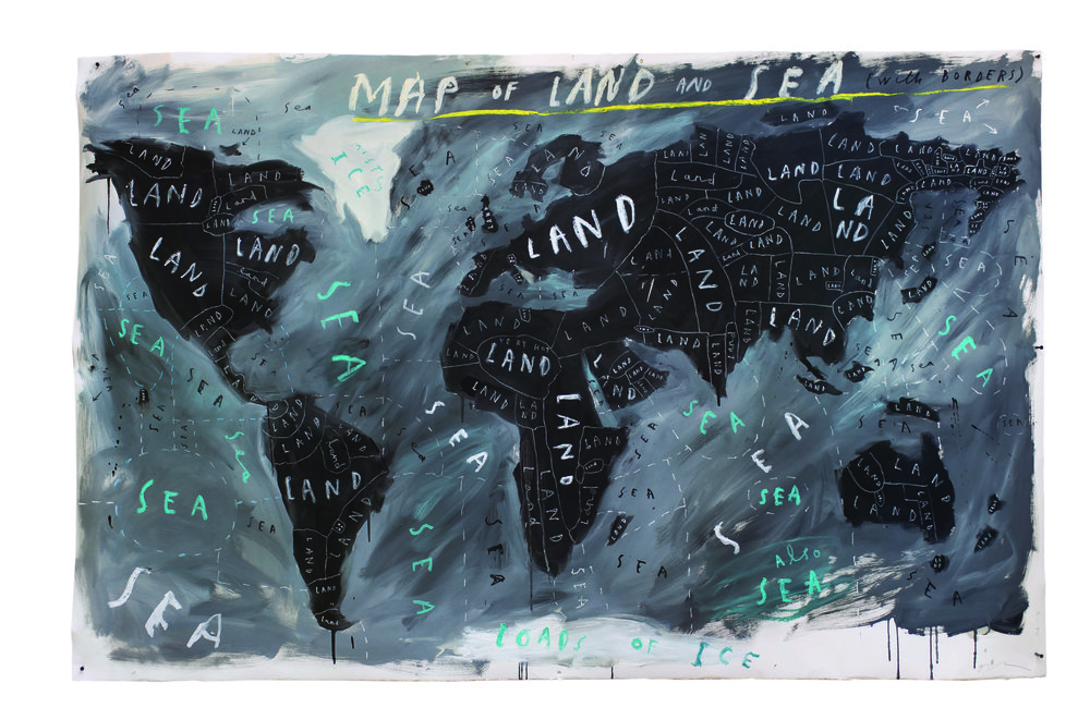Map-of-Land-and-Sea-with-Borders-2018-oil-and-oil-stick-on-paper-Oliver-Jeffers-courtest-of-Lazinc-and-artist.jpg