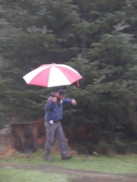 Pouring Rain at Flaming Geyser