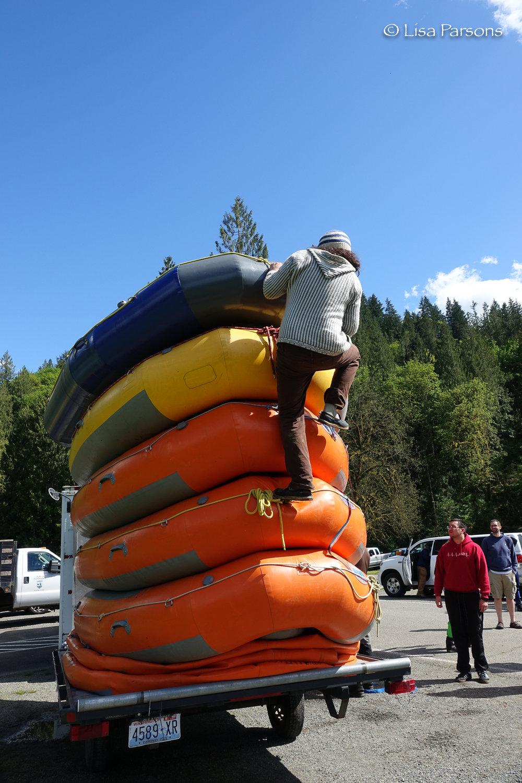 Raft Climbing