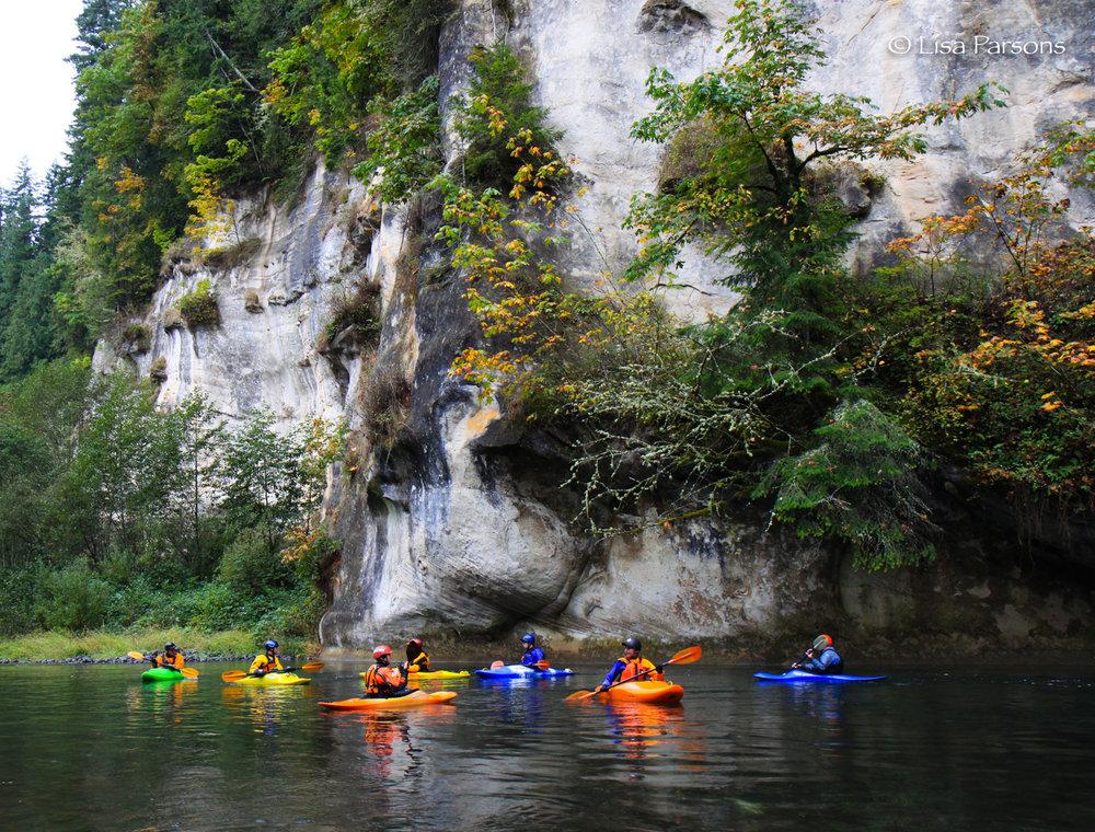 Kayakers enjoying a quiet break