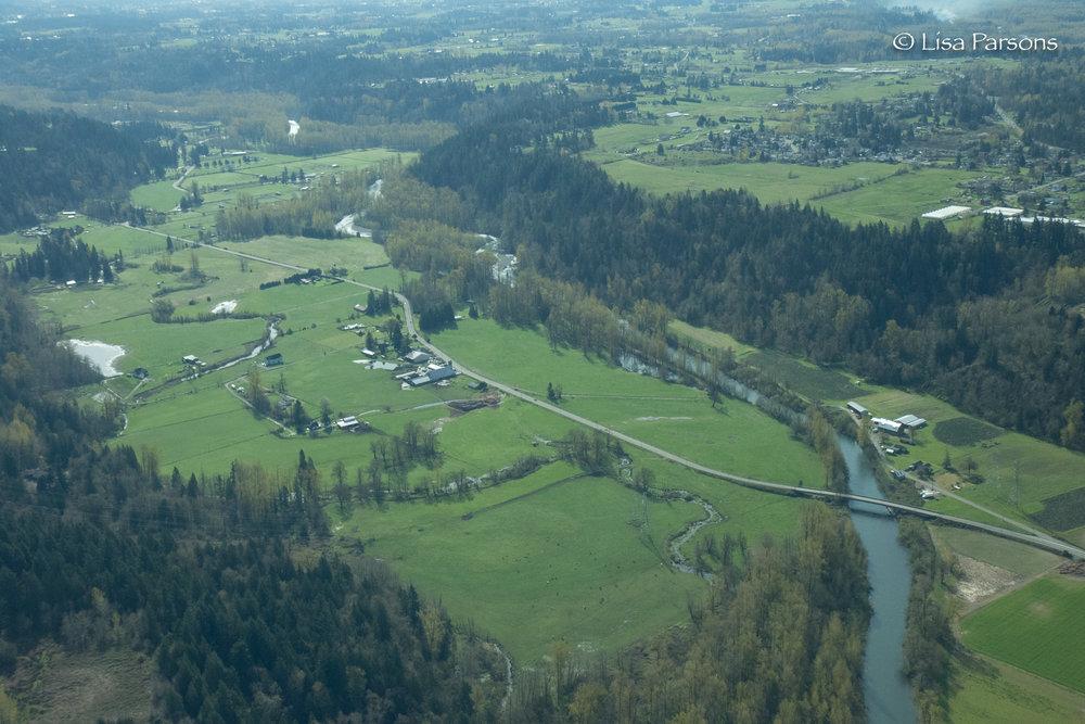Farmlands along the Green River Valley