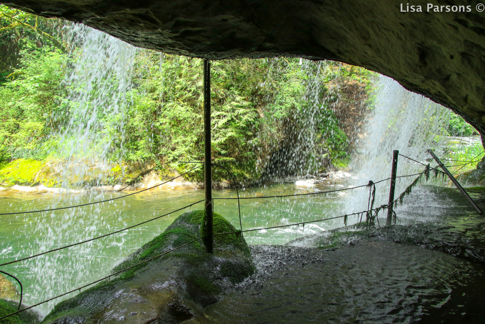 Waterfall From Cave