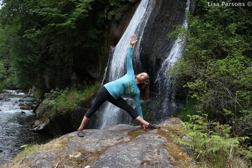 Jean Doing Yoga by the Falls