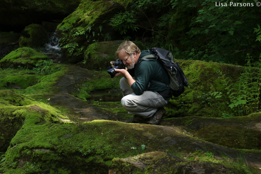 Photographer Capturing the Gorge's Beauty